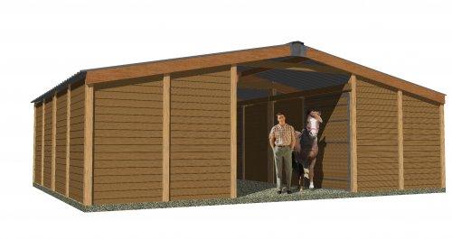 Boxes caballos expertos de boxes y cobertizos para for Precio cobertizos prefabricados