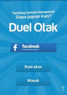 Hubungkan Game Duel Otak Ke Facebook\
