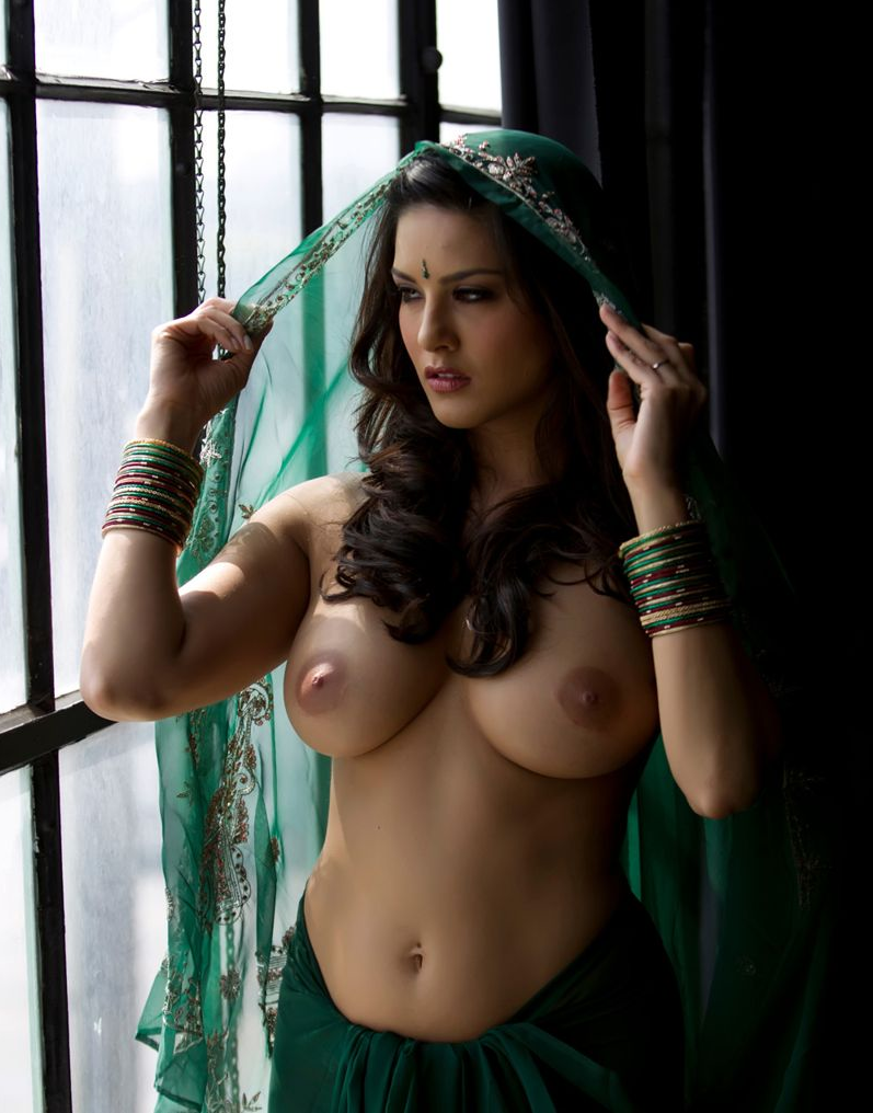 desi models 69 sunny leone green saree