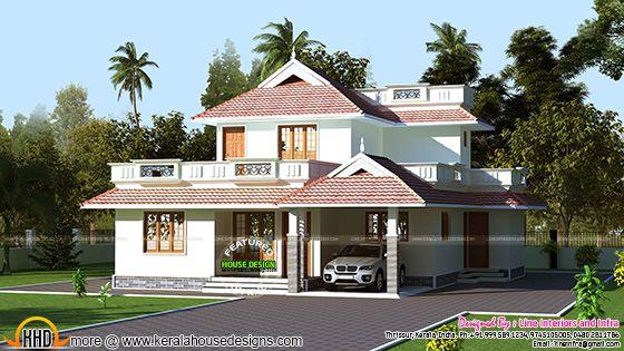 Kerala model beautiful home