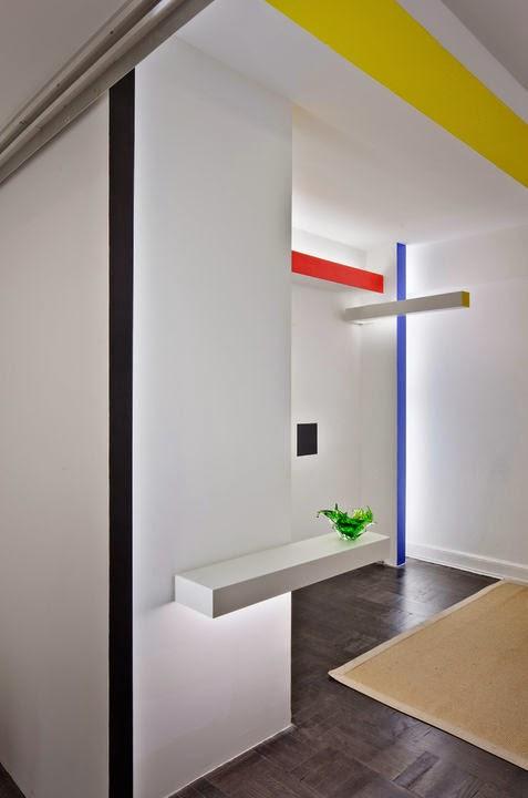 Piet Mondrian inspiriert zu geradlinigem Design einer Wohnung in New York