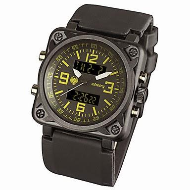 Reloj Cronógrafo Pulsera Cifras Amarillas