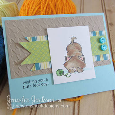 Purr-fect Day Cat Card using Newton's Antics