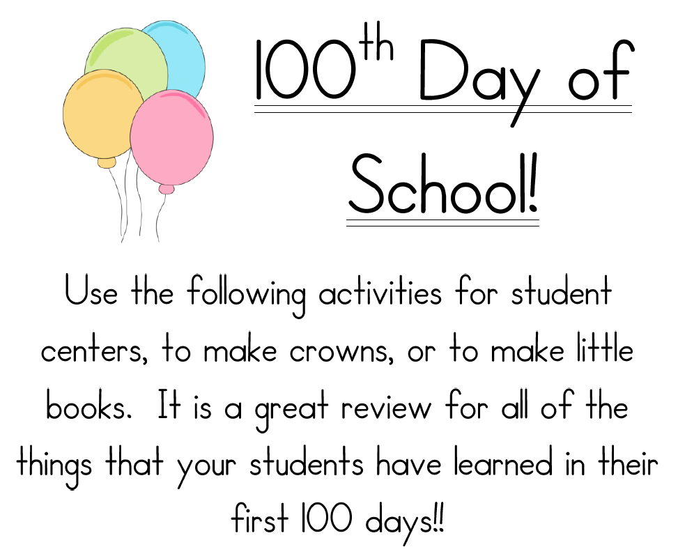 100 Days Of School Activities For Kindergarten 100 day of school – 100th Day of School Math Worksheets