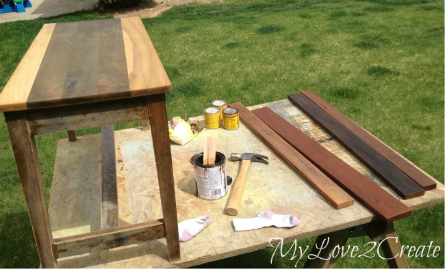 wood conditioning and staining wood