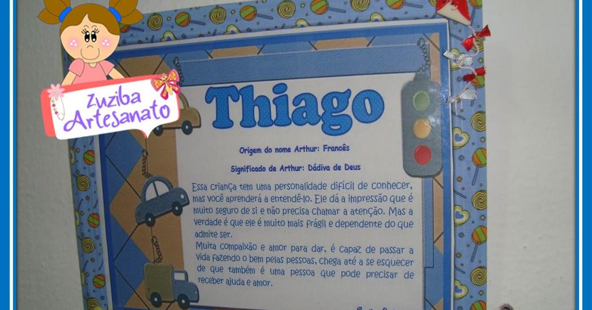 Armario Dobravel Quechua ~ Zuziba Artesanato Quadro Significado do Nome Thiago