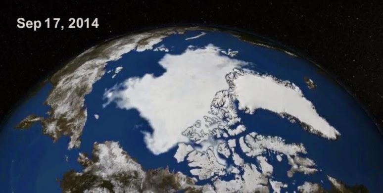 Η εξάπλωση των πάγων από τη ΝΑΣΑ