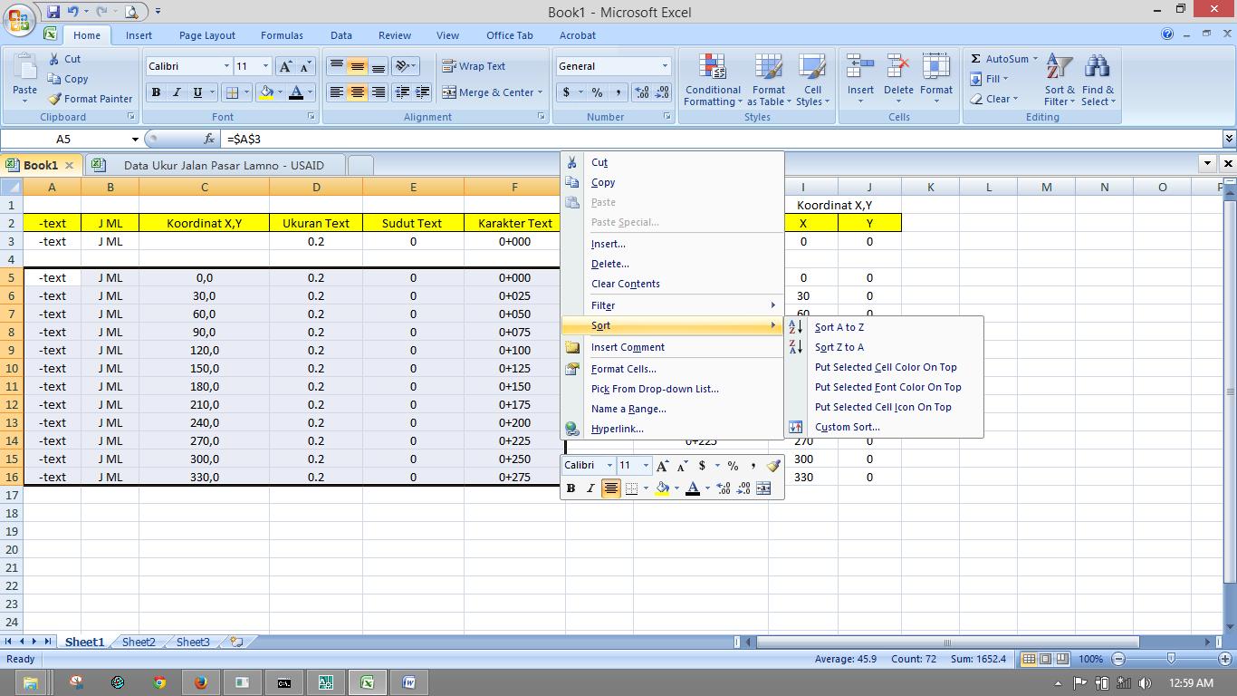 Суммирование ячеек в Excel по 92