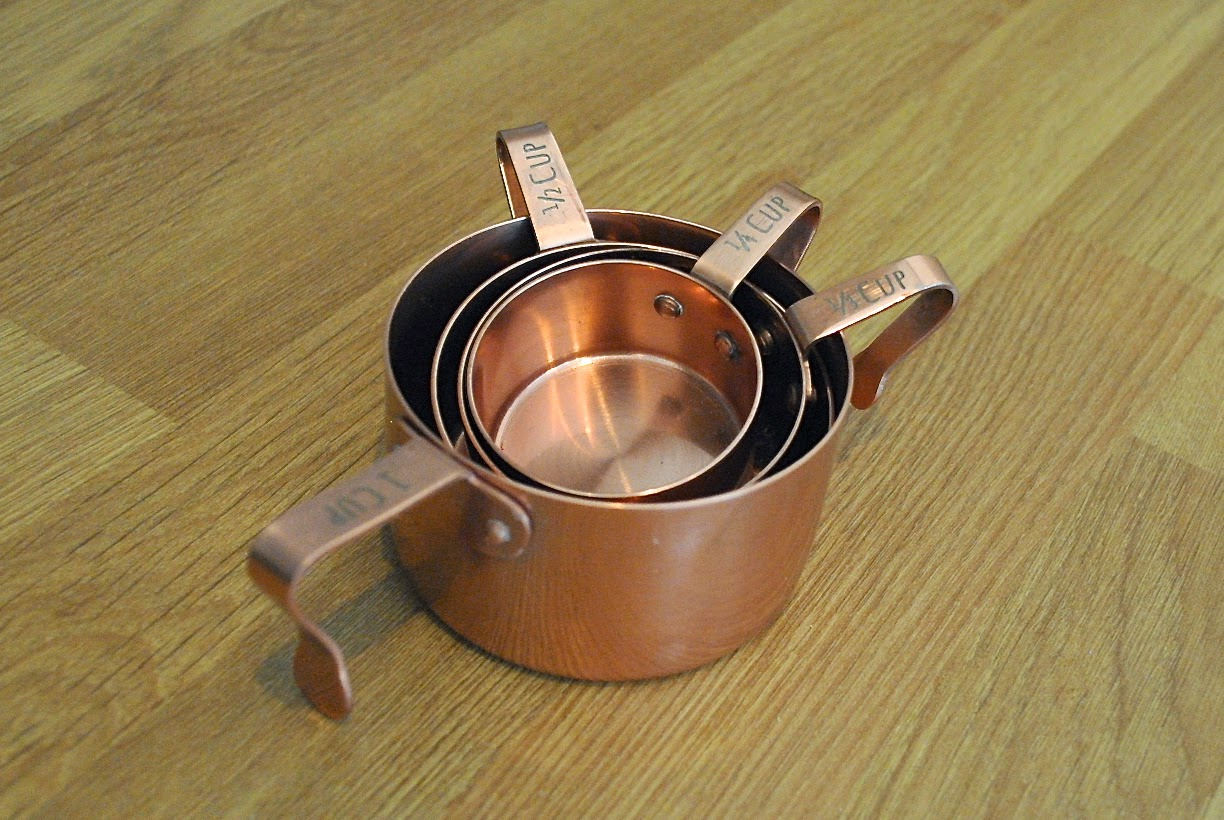Anthropologie copper measuring jugs