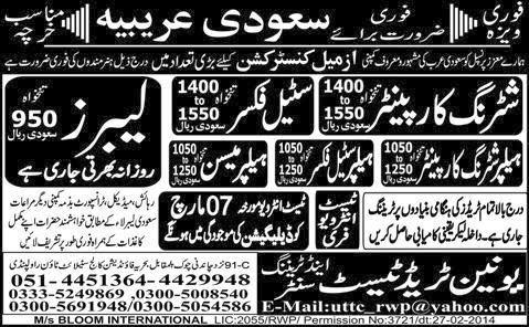 FIND JOBS IN PAKISTAN SHUTTERING CARPENTER JOBS IN PAKISTAN LATEST JOBS IN PAKISTAN