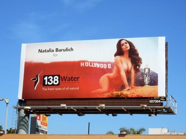 Nude Natalia Barulich 138 Water billboard