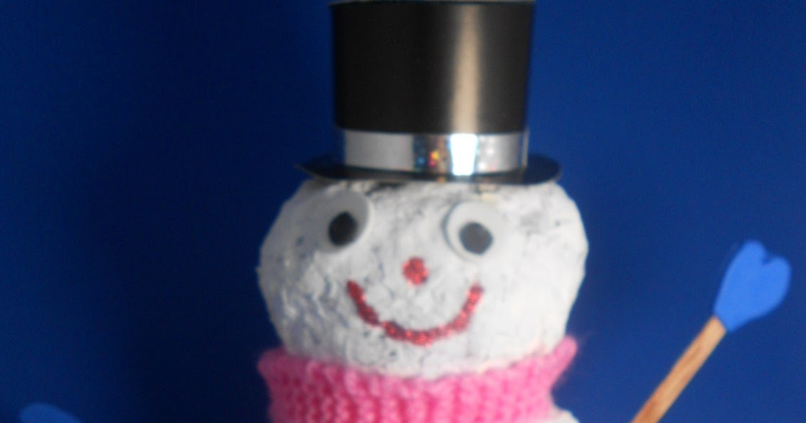 James may arts and crafts blog paper mache snowman for Paper mache art and craft