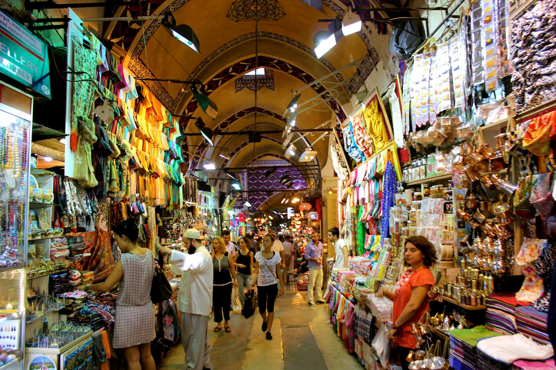 Grand Bazaar Shops In Istanbul, Turkey Wall Mural