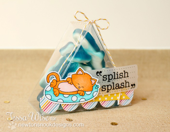 Kitty Beach Card by Tessa Wise for Newton's Nook Designs - Inky Paws Beach Challenge