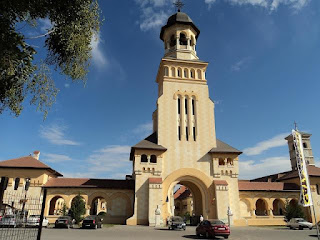 Citadel Alba Carolina-Gate IV - entrance Coronation Cathedral and Reunification Nation