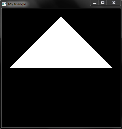 OpenGL code to zoom in and zoom out Triangle using Key