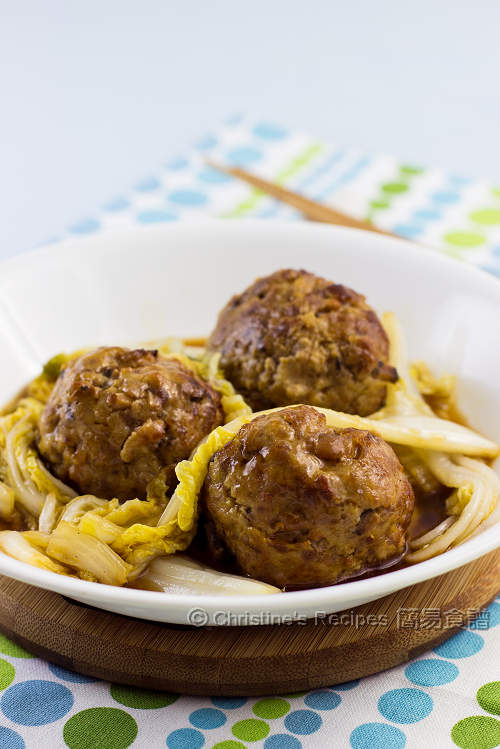 紅燒獅子頭 Lion's Head Meatballs01