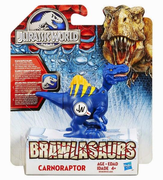 JUGUETES - JURASSIC WORLD  Brawlasaurs - Carnoraptor | Figura - Muñeco  Producto Oficial Película 2015 | Hasbro B1148 | A partir de 4 años