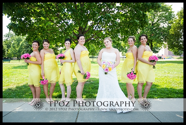 bridesmaids on  federal hill park