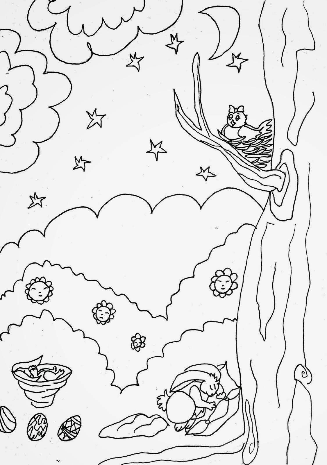 Dibujos del dia de la primavera para colorear | Desmotivaciones tristes