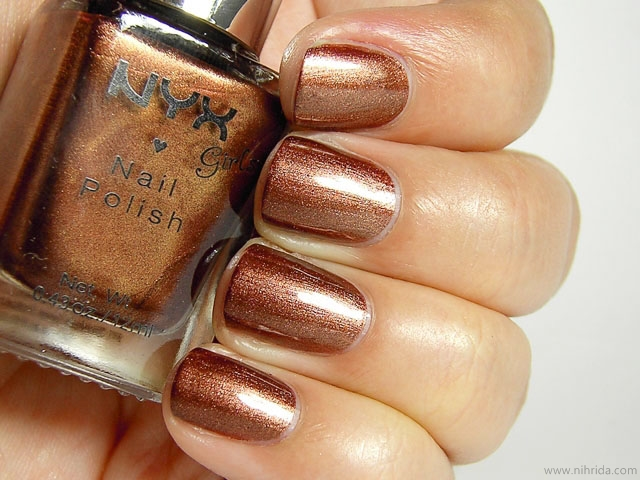 NYX Girls Nail Polish in Bronze Goddess