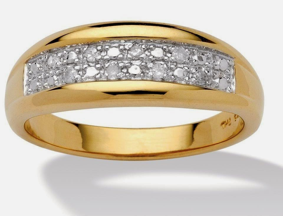 Mens Diamond Wedding Bands Yellow Gold Design pictures hd
