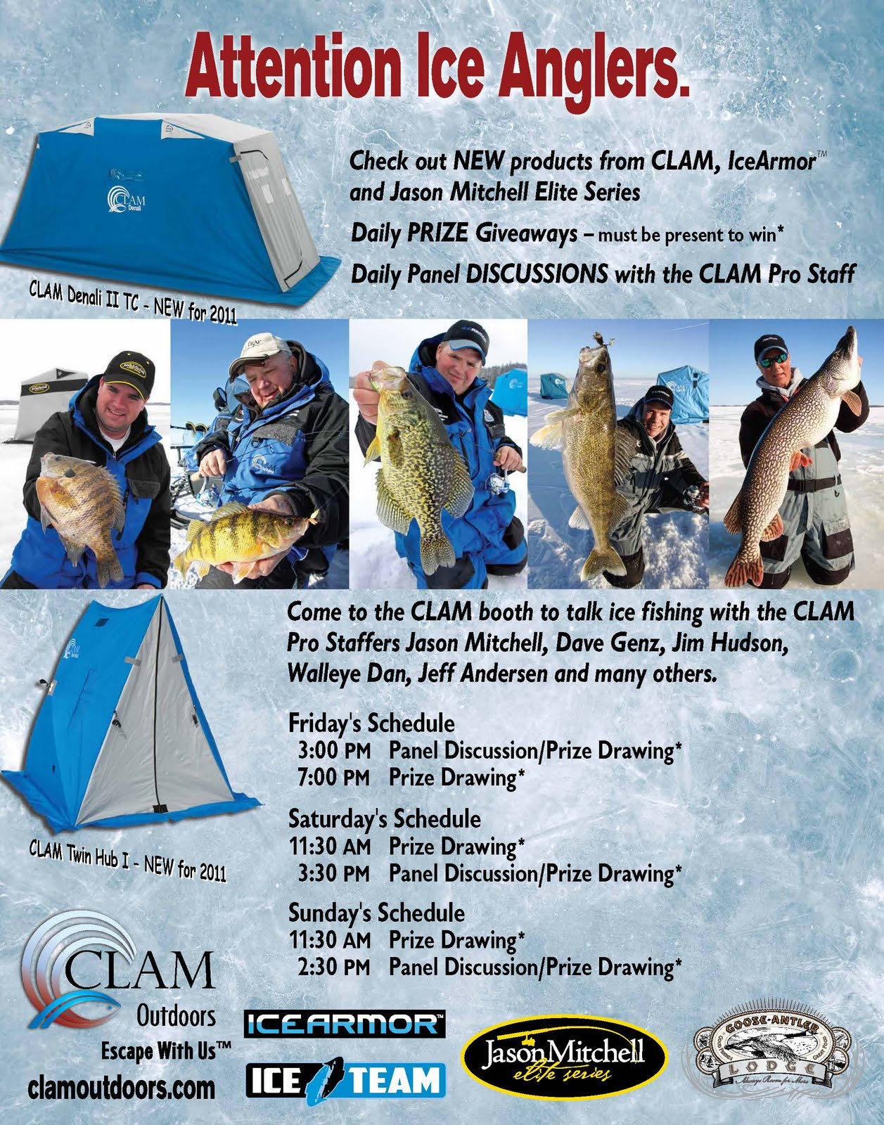 Leisure outdoor adventures guided winter ice fishing on for Ice fishing deals