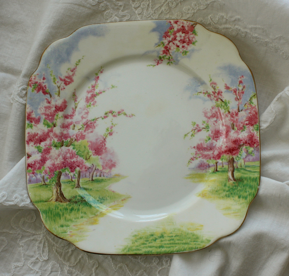 Wild rose vintage pink floral dishes for Cuisine rose