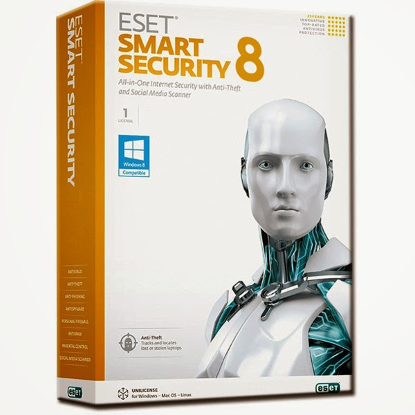 Free Download AntiVirus ESET Smart Security 8 Full With Crack 2015