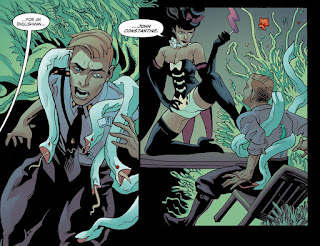 Page 14 from DC Comics Bombshells #6 featuring Zatanna and John Constantine