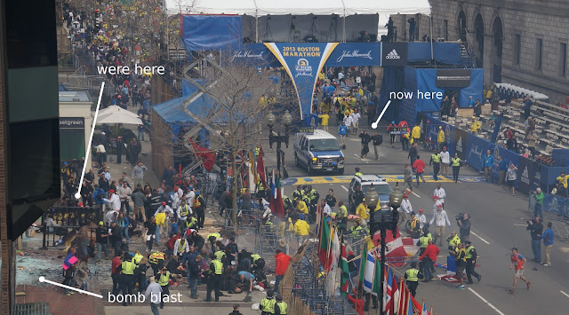 """Contractors"" at Boston Marathon Stood Near Bomb, Left Before Detonation After BombBlast Across Street1"
