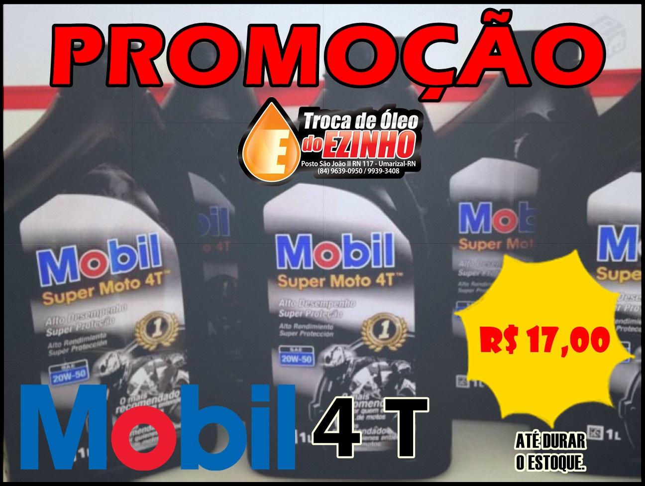"""A Troca de óleo do Ezinho está com uma """"SUPER PROMOÇÃO"""" no óleo MOBIL 4T para Motos. CONFIRA!"""