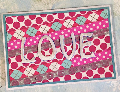 love washi tape handmade greeting card lisa fulmer