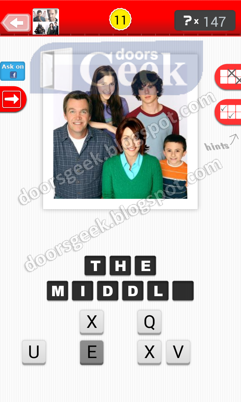 answer the middle guess the tv show level 12 11 answer cheats solution
