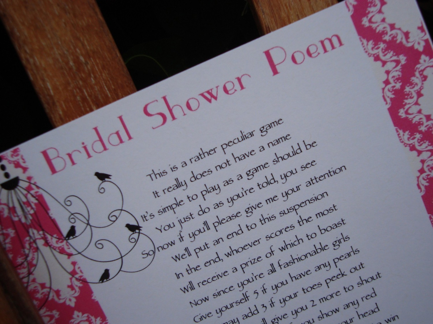 bridal shower poems