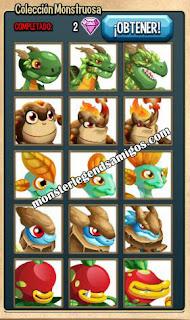 imagen de la coleccion monstruosa de monster legends