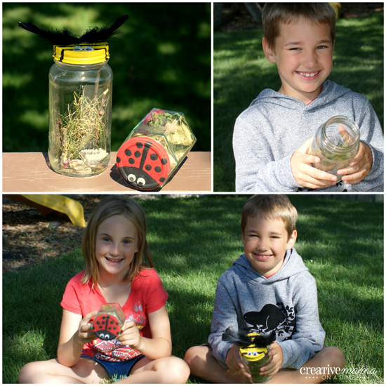 Buggy Bug Catching Jars - Backyard Camping Activities for kids