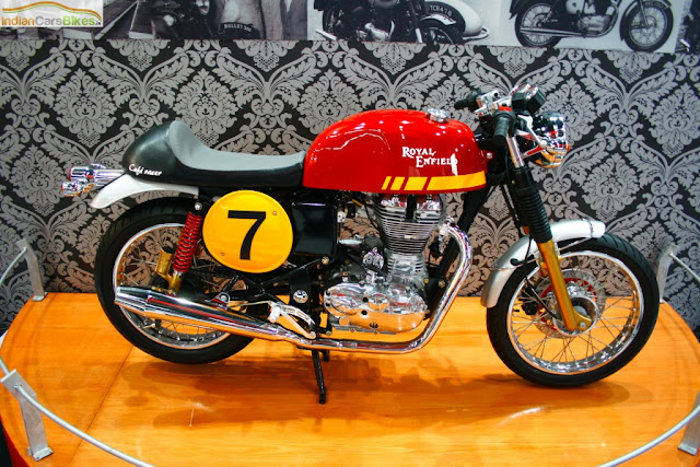 Royal Enfield Cafe Racer side shot