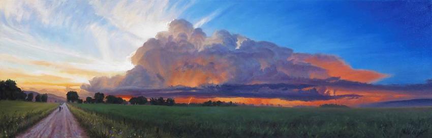 Cuadros modernos pinturas y dibujos las nubes en el for Cuadros horizontales modernos