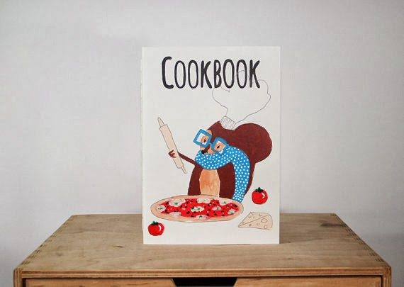 Ilustrated Cookbook Notebook by NutsforPaper