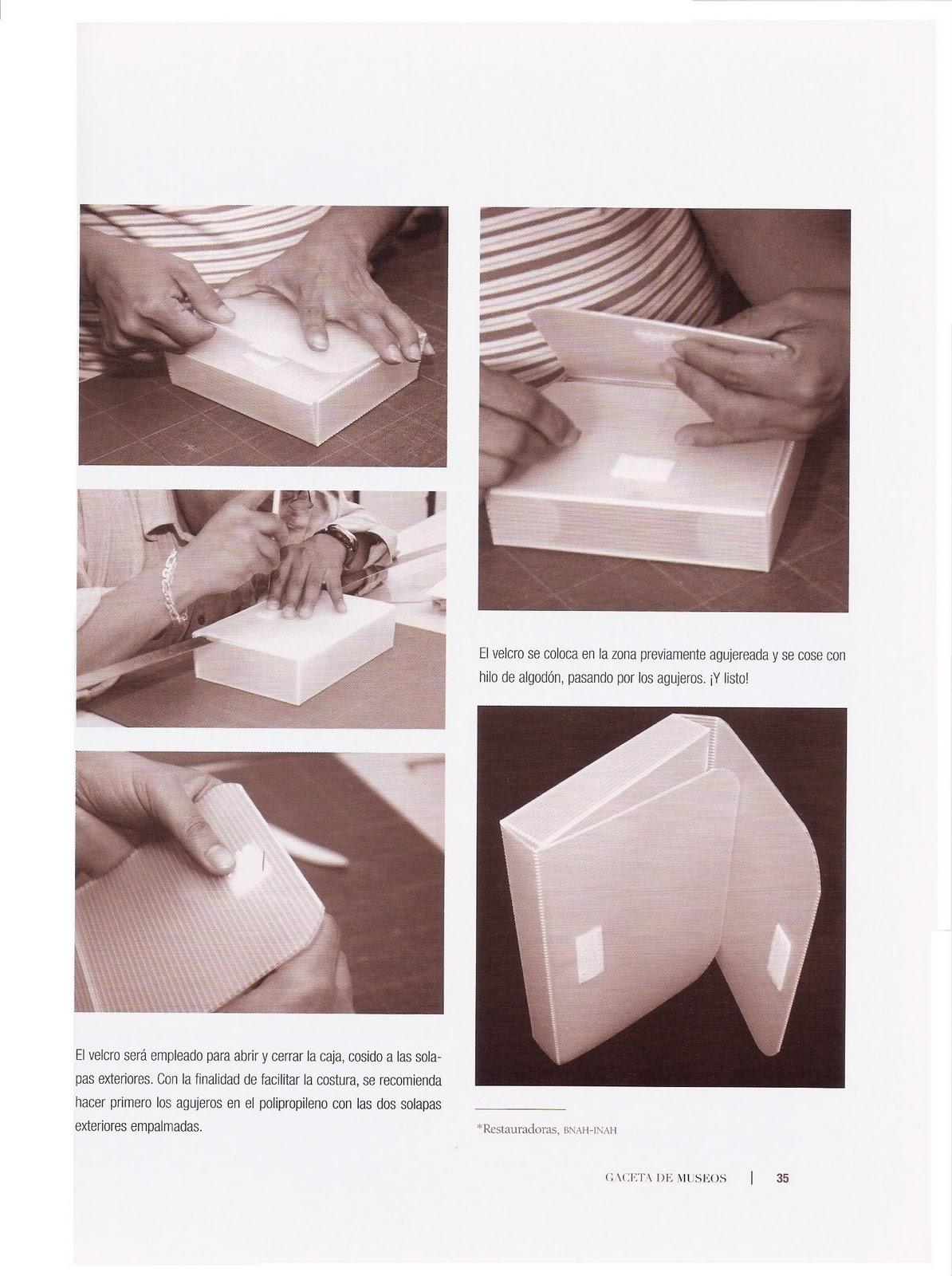 Encuadernadiccion como hacer una caja conservativa de - Cajas de polipropileno ...