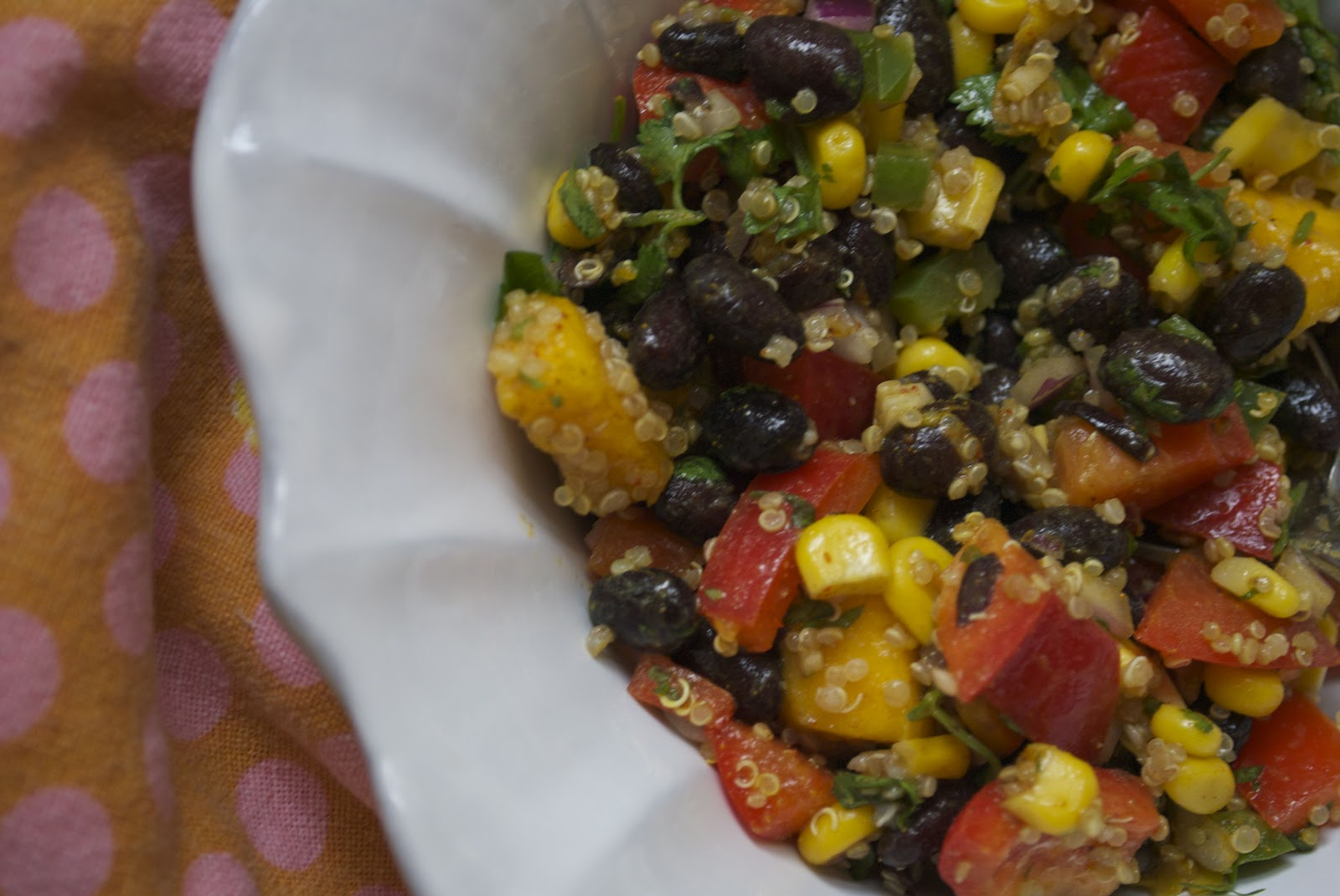 Southwestern Black Bean, Qunioa and Mango Medley