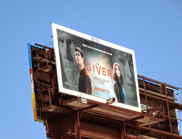The Giver movie billboard