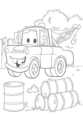Disney Cars Coloring Pages for Boys