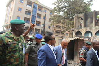 Anambra State Governor, Willie Obaino visits Onitsha Central Mosque razed during pro- Biafra protests