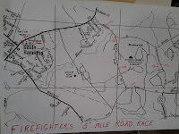 Map of 25 Annual Firefighters Road Race in Hamilton