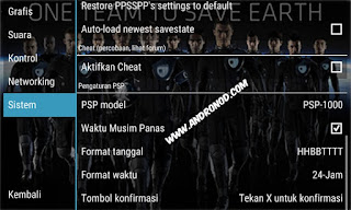 Settingan Emulator PPSSPP Pes2015/16 di Android Work Tanpa Lag