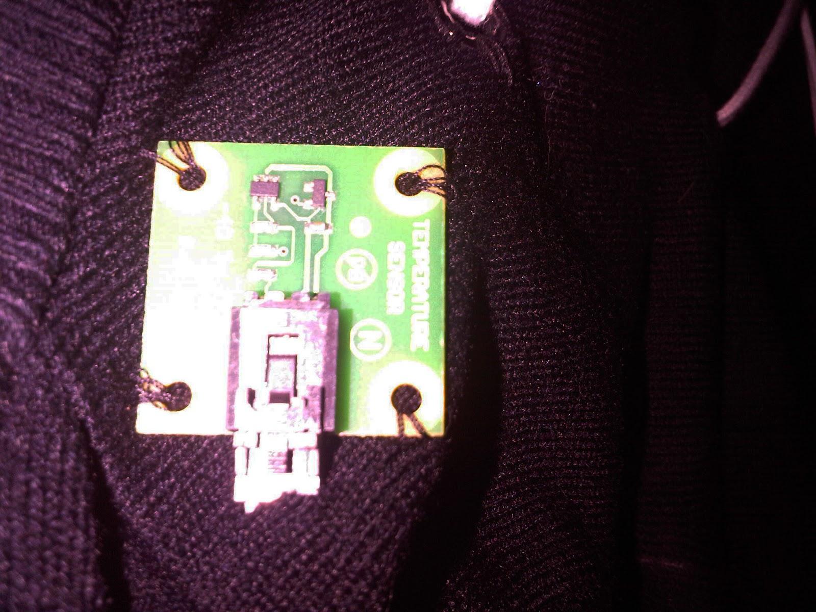 Clothing Temperature Sensor The Temperature Sensor on