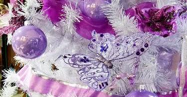 El morado en la decoraci n del rbol de navidad ideas - Arbol de navidad morado ...