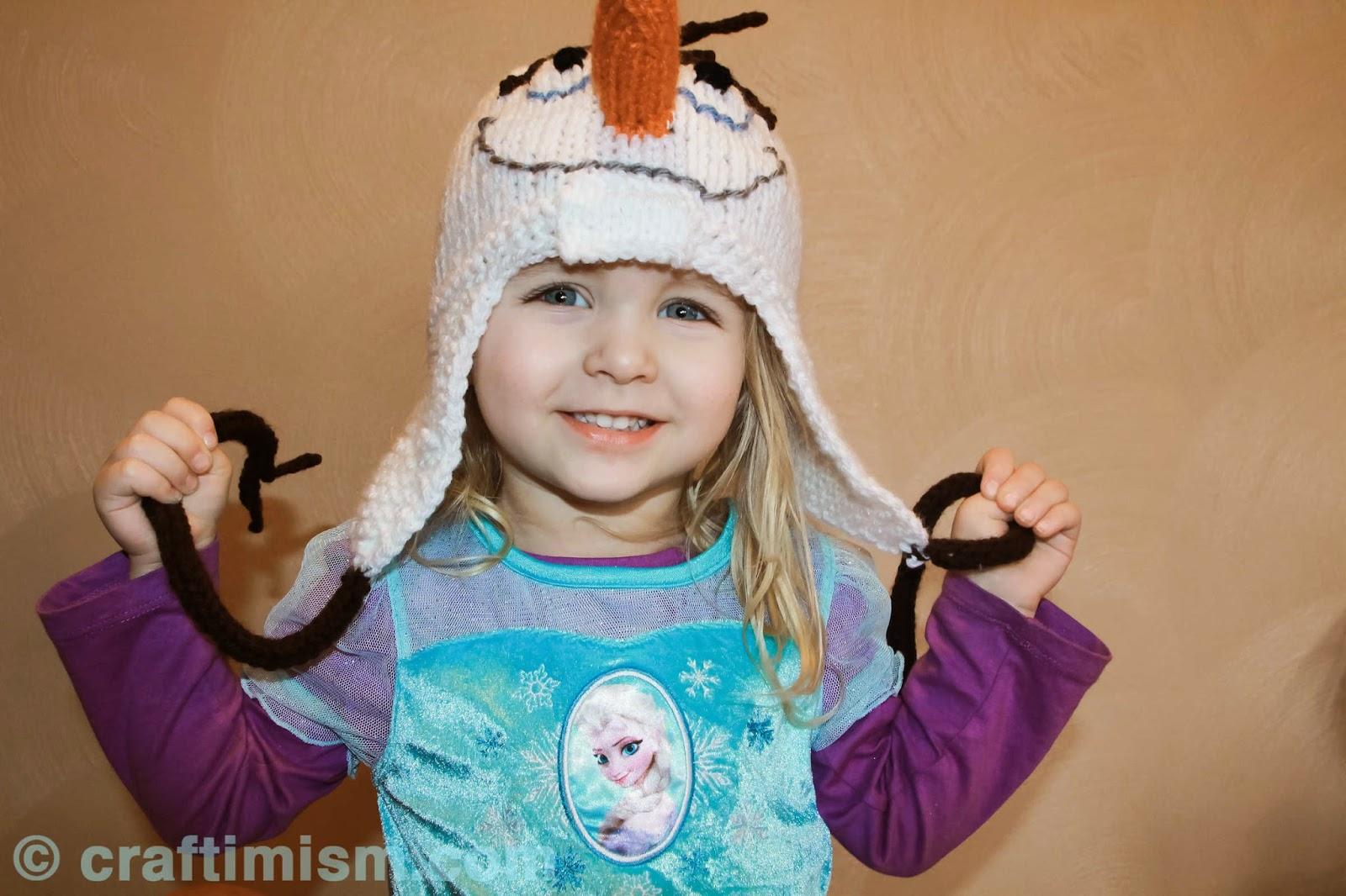 Knitting Pattern Olaf Hat : Craftimism: Olaf-inspired Knit Hat